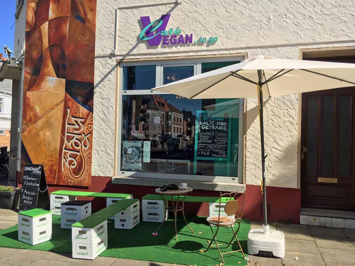 Café Vegan in der Lüneburger Straße im Bremer Viertel