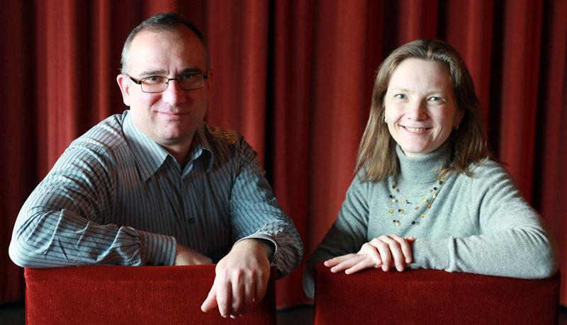 Miriam Steen und Giorgi Abashishvili stellen ihren Film in Bremen vor.