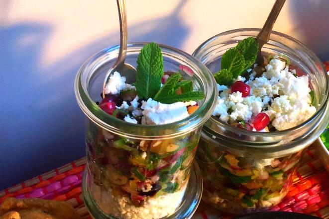 Auberginen-Gurken-Salat in Gläsern Rezept von Luka Lübke