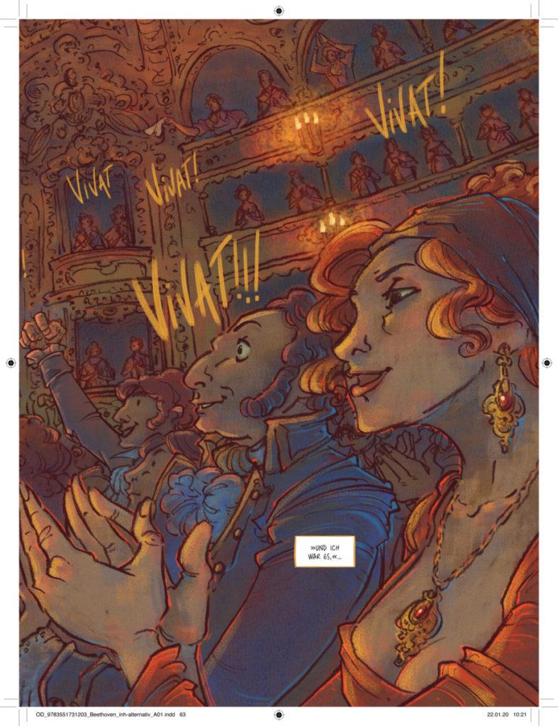 """""""Beethoven"""" ist Peer Meters erste farbige Graphic Novel - und die erste, in der er die Leserschaft bewusst zum Lachen bringen möchte. Bild: Rem Broo"""